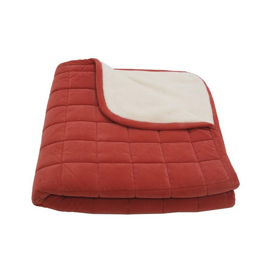 Carolina Pet Company Earth Red Microfiber Rectangular Dog Bed