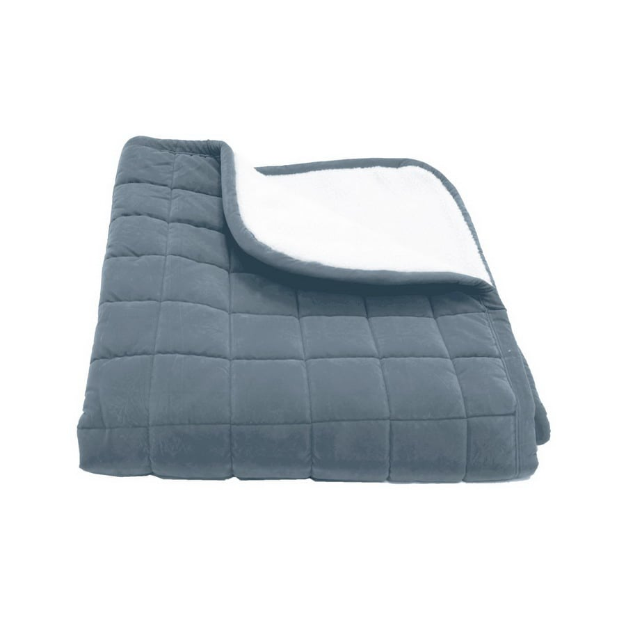 Carolina Pet Company Blue Microfiber Rectangular Dog Bed