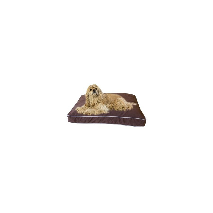 Carolina Pet Company Chocolate Microfiber Rectangular Dog Bed