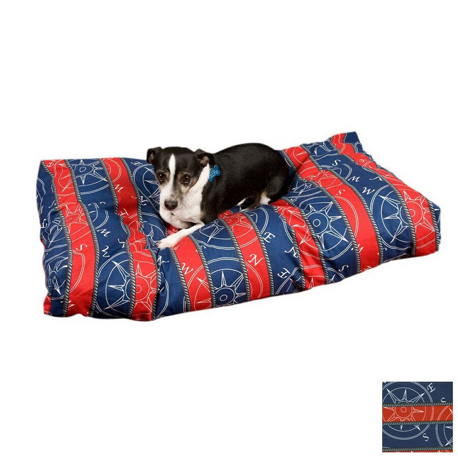 Snoozer Blue Compass Polyester/Cotton Rectangular Dog Bed