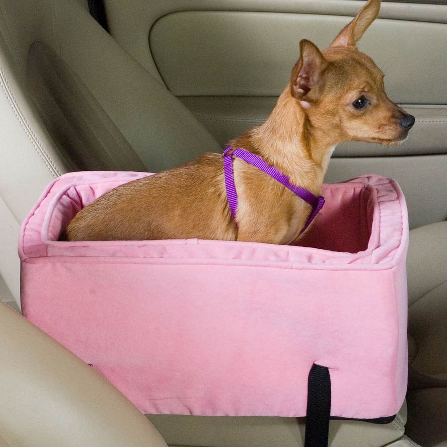 Snoozer 19-in Pink Fabric Dog Car Seat Booster