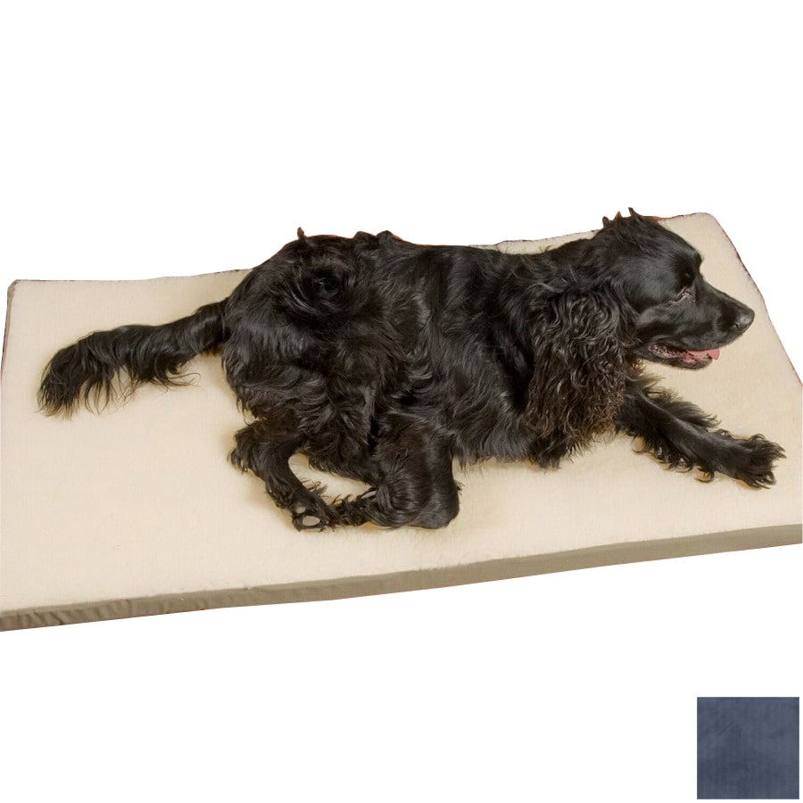Snoozer Cream/Navy Rectangular Dog Bed