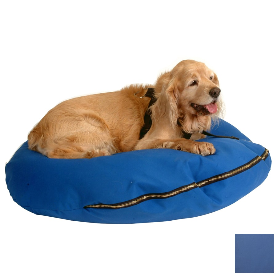 Snoozer Royal Blue Cedar/Polyester Round Dog Bed