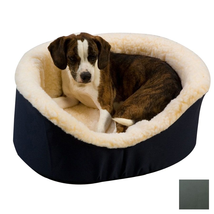 Snoozer Gray Poly Cotton Oval Dog Bed