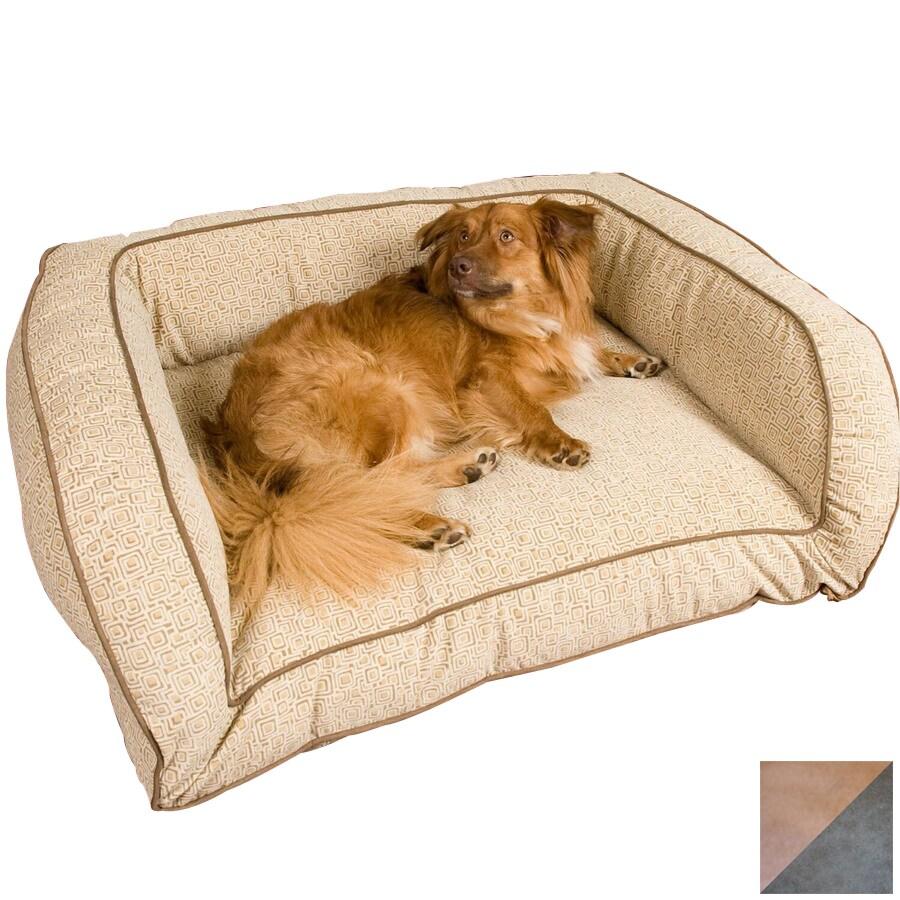 Snoozer Camel/Olive Microsuede Rectangular Dog Bed