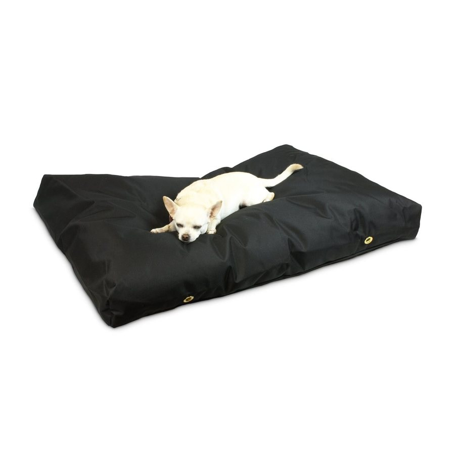 Snoozer Black Polyester Rectangular Dog Bed