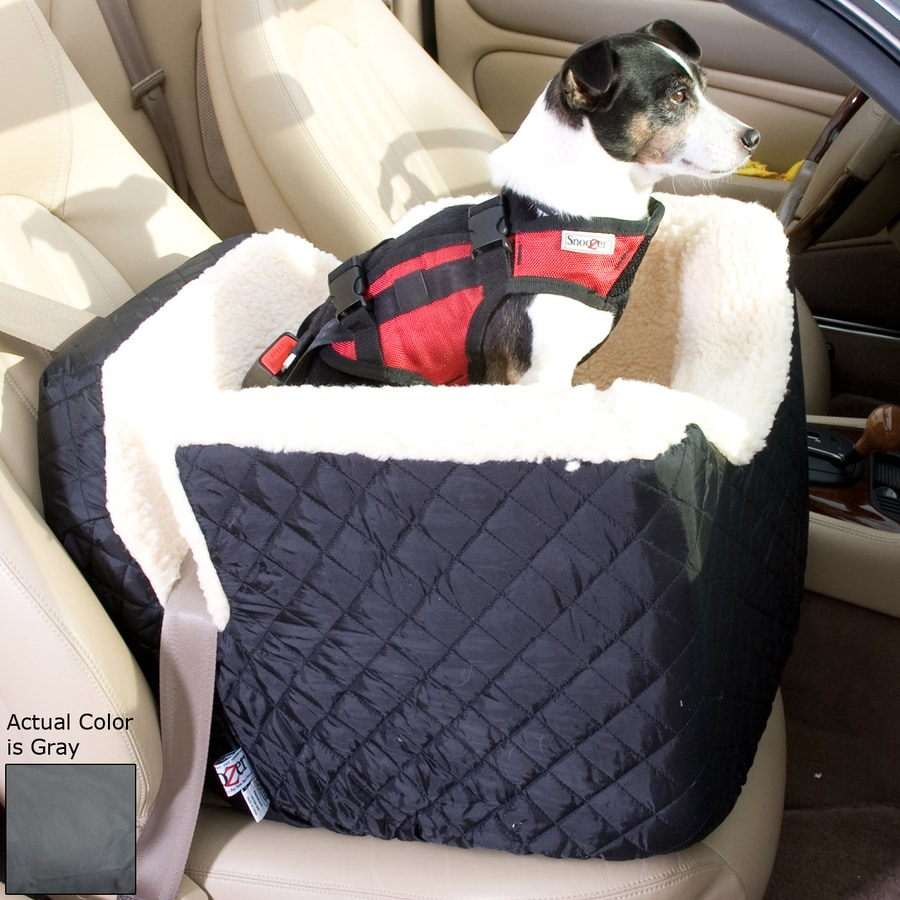 Snoozer 22-in Gray Fabric Dog Car Seat Booster