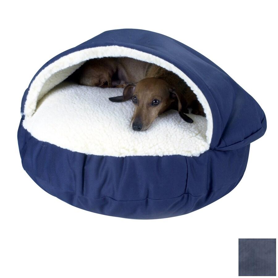 Snoozer Navy Microsuede Round Dog Bed