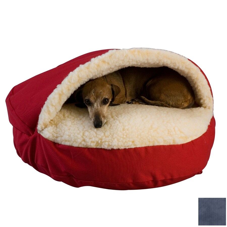 Snoozer Navy Poly Cotton Round Dog Bed