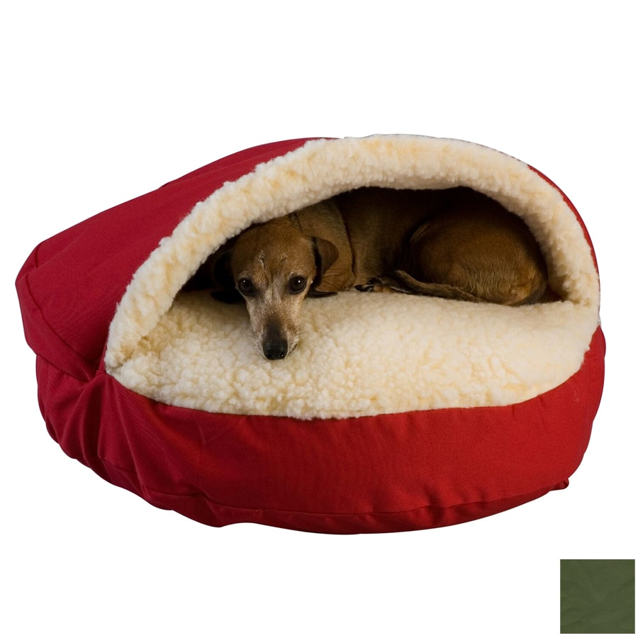 Snoozer Olive Poly Cotton Round Dog Bed
