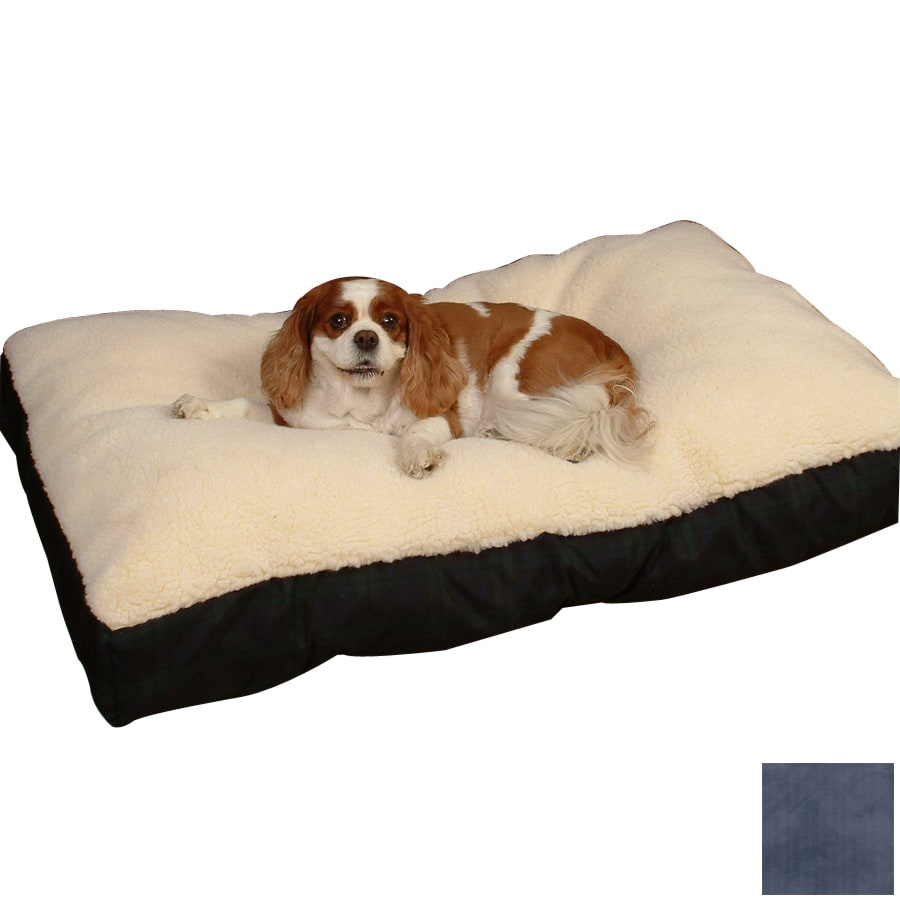 Snoozer Cream/Navy Polyester/Cotton Rectangular Dog Bed