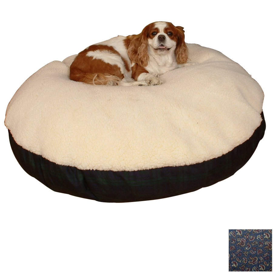 Snoozer Black/Paisley Polyester/Cotton Round Dog Bed