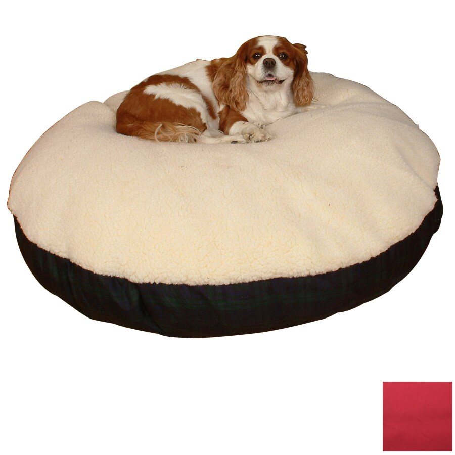 Snoozer Black/Red Polyester/Cotton Round Dog Bed