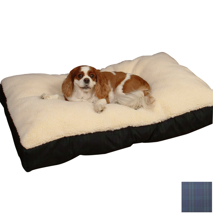 Snoozer Black/Blackwatch Plaid Polyester/Cotton Rectangular Dog Bed