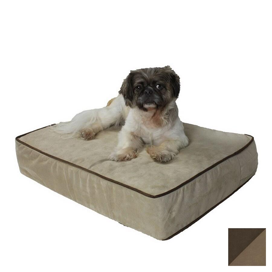 Snoozer Hot Fudge/Cafe Microsuede Rectangular Dog Bed