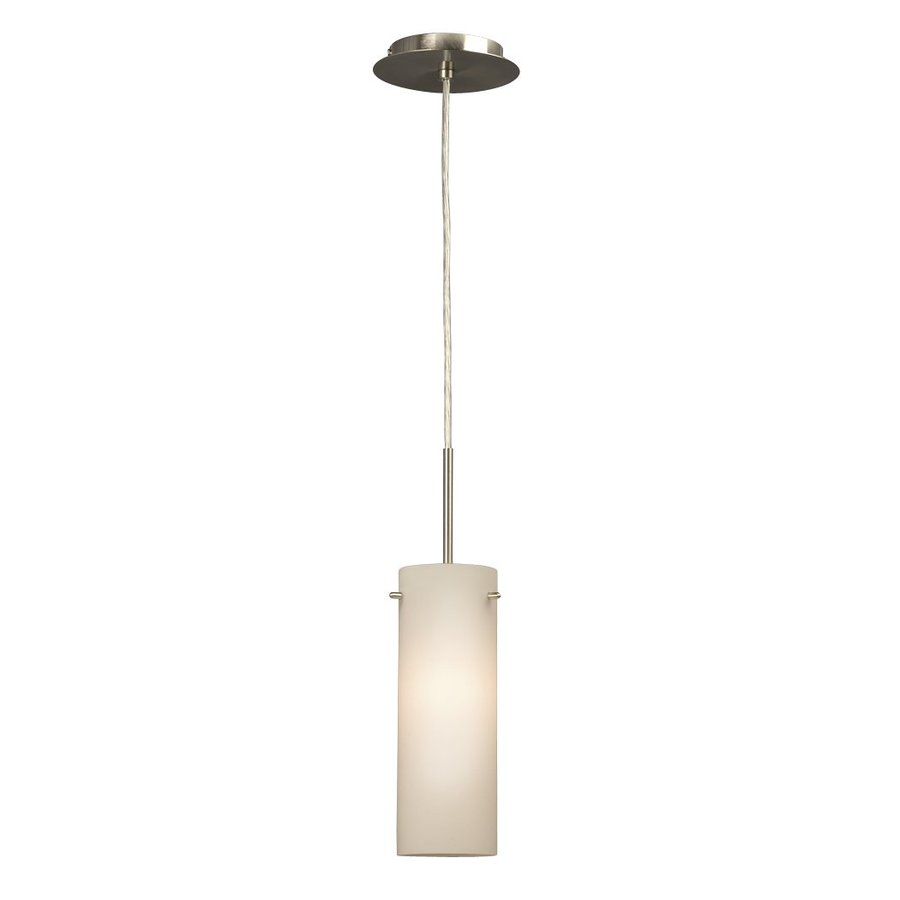 Galaxy 4.25-in Brushed Nickel Industrial Mini Cylinder Pendant