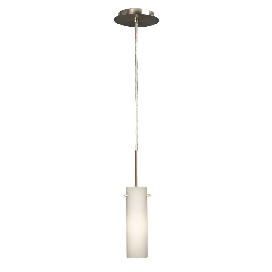 Galaxy 3.125-in Brushed Nickel Industrial Mini Cylinder Pendant