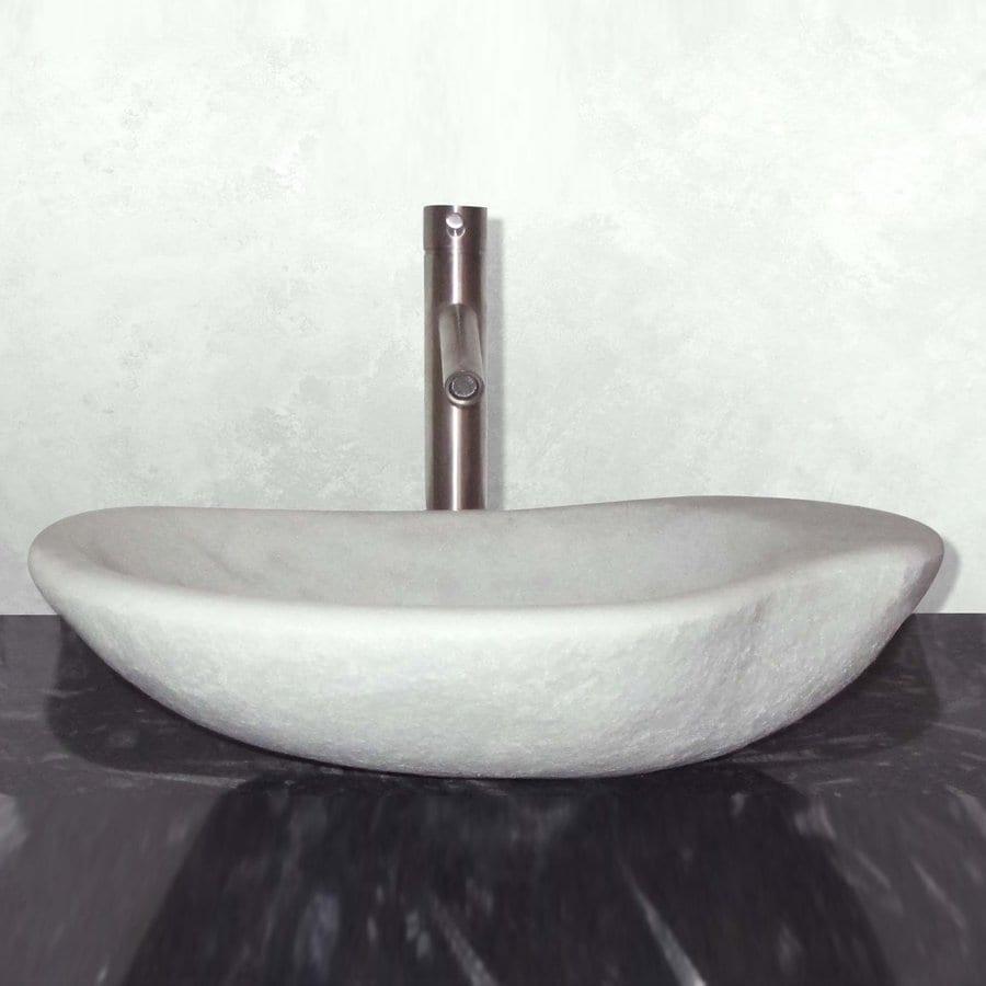 Terra-Acqua Montecito Stone Moonstone Marble Vessel Oval Bathroom Sink