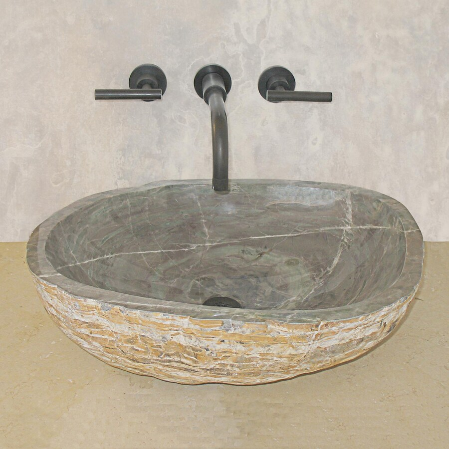 Round Granite Sink : ... Montecito Sea Green Stone Vessel Round Bathroom Sink at Lowes.com