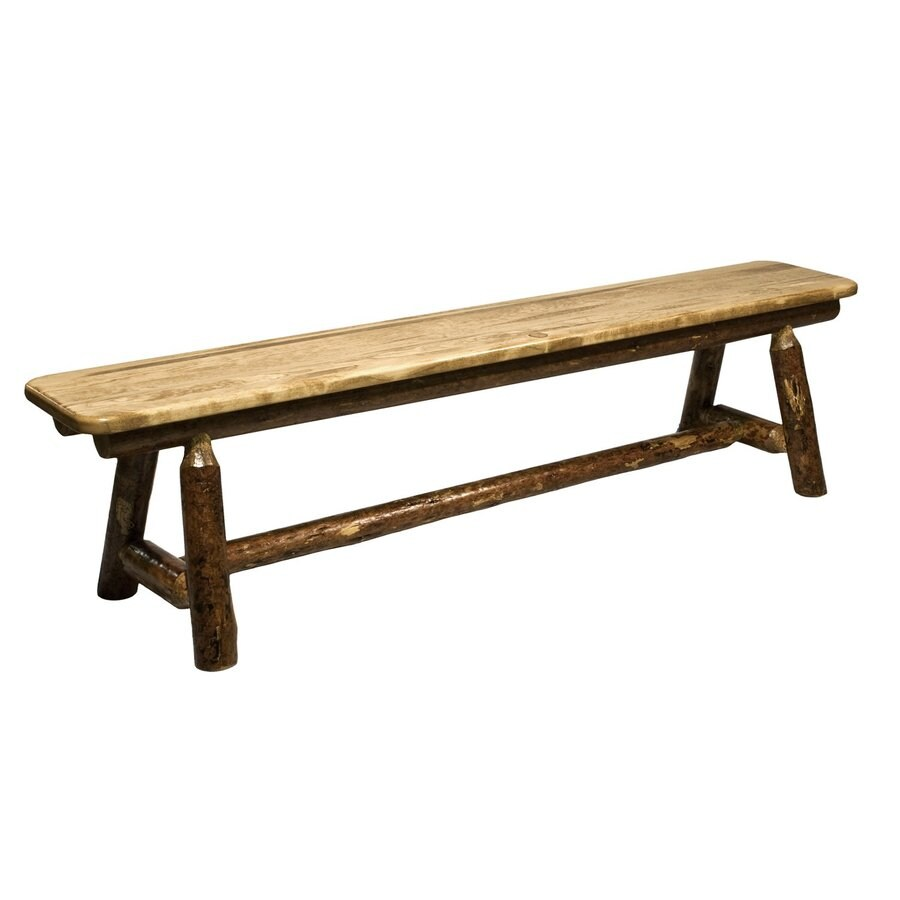 Montana Woodworks Glacier Country Stained and Lacquered 6-ft Dining Bench