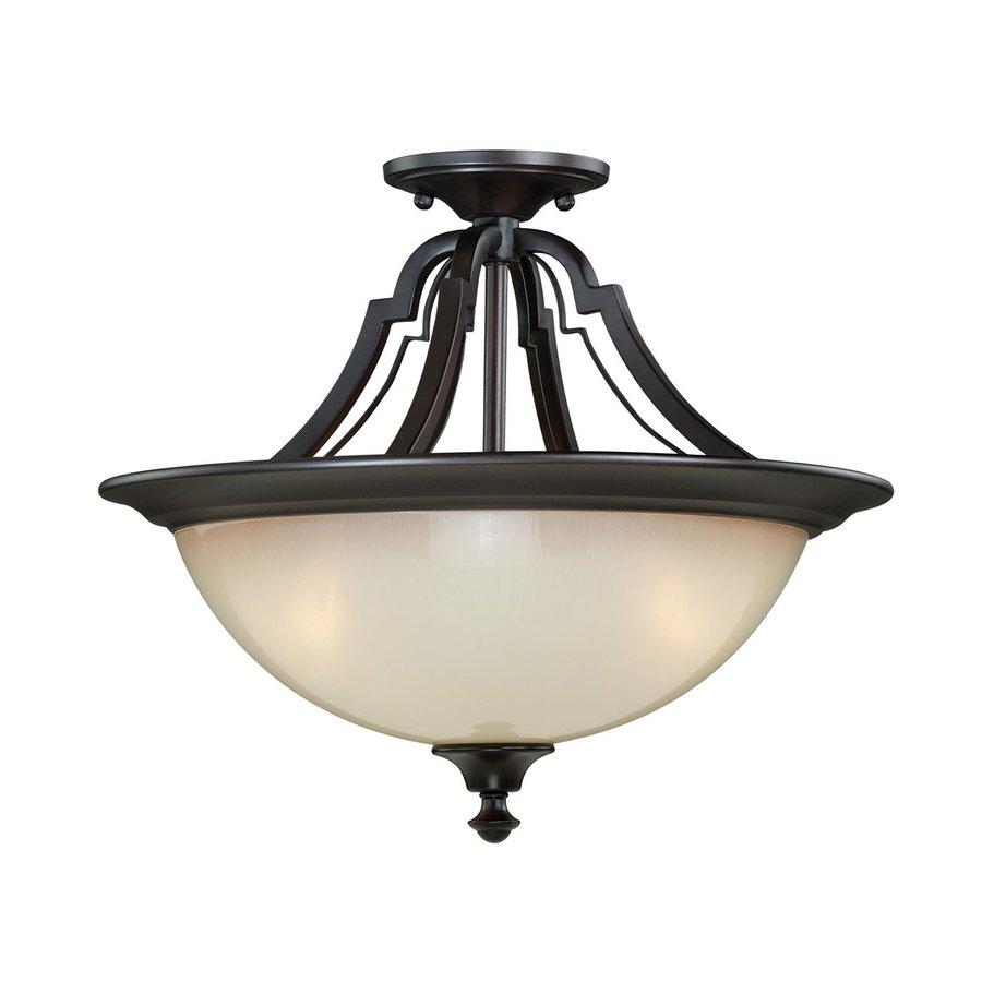 Cascadia Lighting Elba 15.5-in W New Bronze Semi-Flush Mount Light