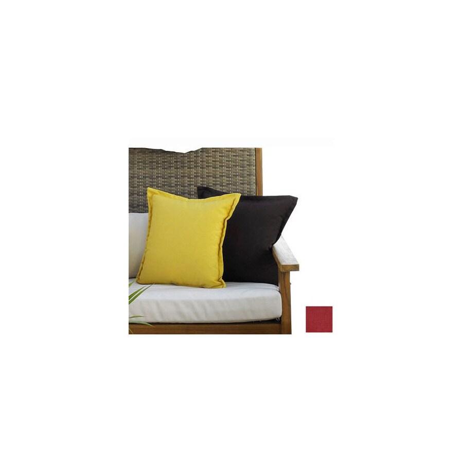 Hospitality Rattan 2-Piece 27-in W x 15-in L Patriot Cherry Rectangular Decorative Pillow