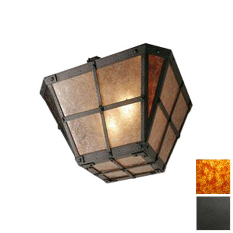 Steel Partners 20-in W Old Iron Semi-Flush Mount Light