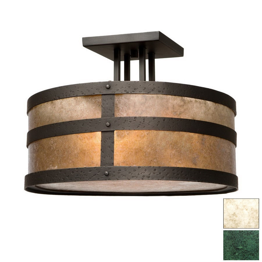 Steel Partners 18-in W Verdi Gris (Interior) Semi-Flush Mount Light