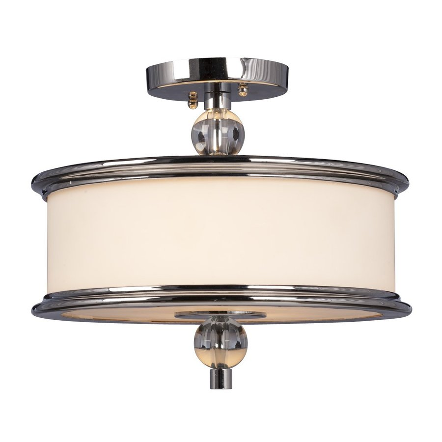 Galaxy Hilton 13.375-in W Chrome Semi-Flush Mount Light