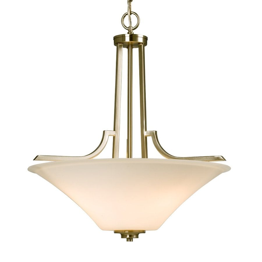 Galaxy Franklin 20.5-in Brushed Nickel Single Bowl Pendant