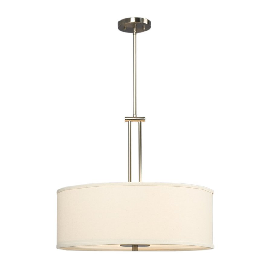 Galaxy Landis 22-in Brushed Nickel Single Drum Pendant