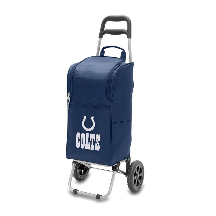 Picnic Time 15-Quart Indianapolis Colts Wheeled Polyester Cart Cooler
