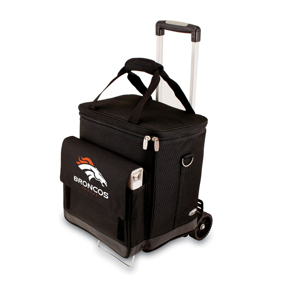 Picnic Time Denver Broncos Wheeled Polyester Cart Cooler