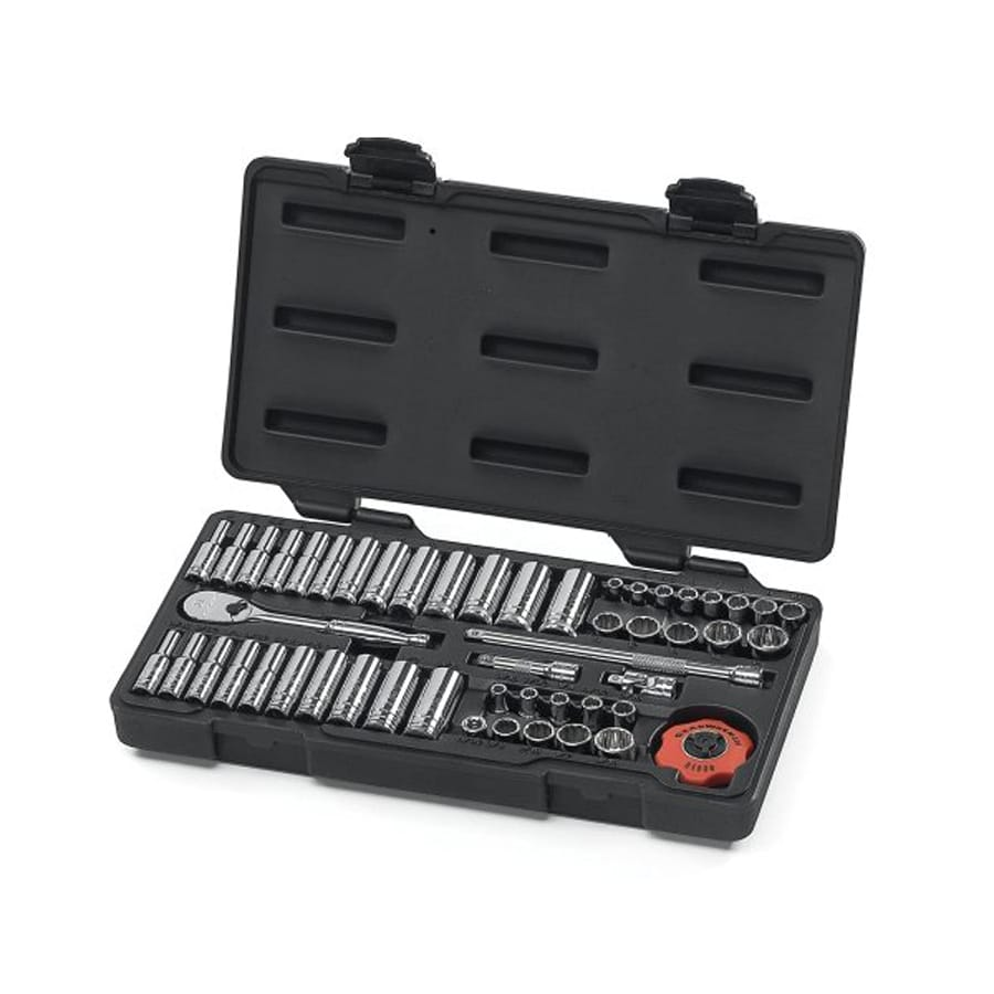 KD Tools 51-Piece Standard (SAE) and Metric Mechanic's Tool Set with Hard Case