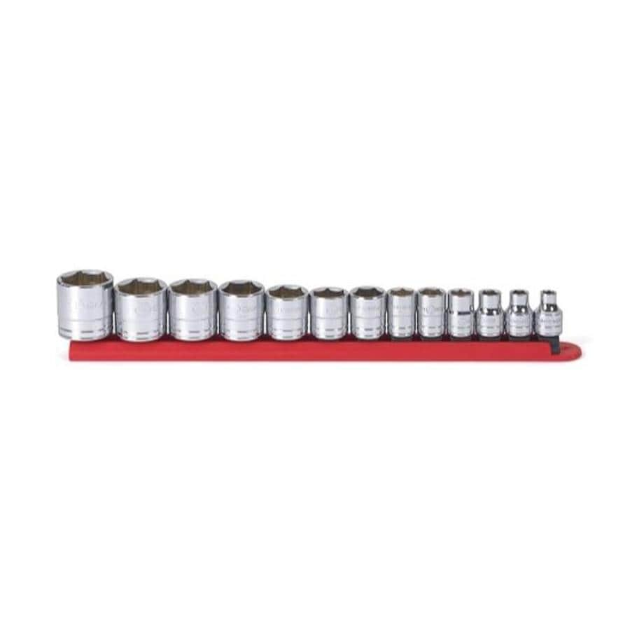 """KD Tools Total Number Of Pieces-Piece Standard (Sae) 3/8"""" Drive 4. Depth 6-Point Socket Set"""