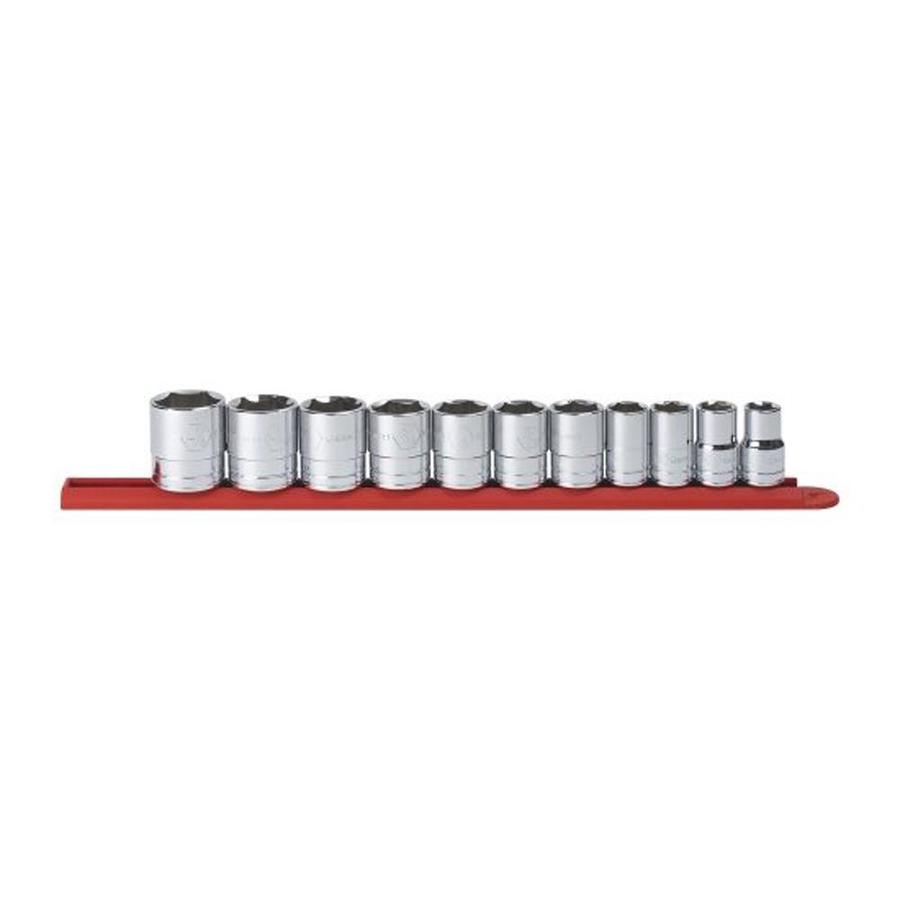 """KD Tools Total Number Of Pieces-Piece Standard (Sae) 1/2"""" Drive 4. Depth 6-Point Socket Set"""