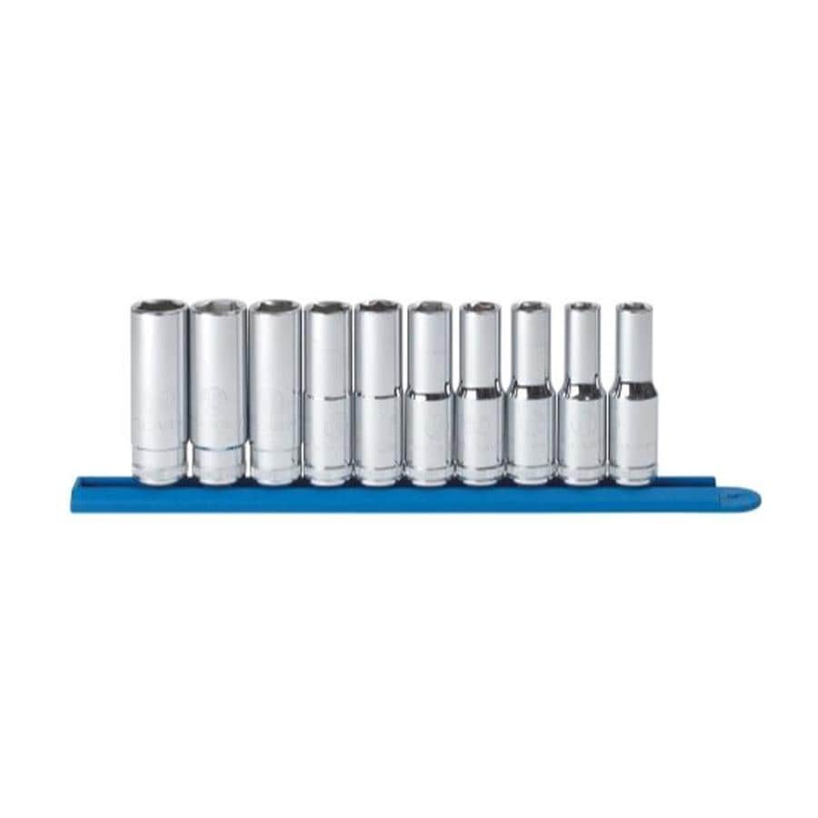 """KD Tools Total Number Of Pieces-Piece Metric 1/2"""" Drive 4. Depth 6-Point Socket Set"""
