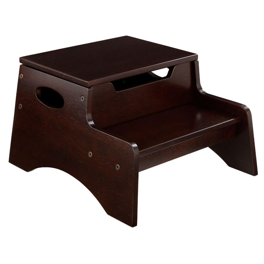 KidKraft 2-Step Espresso Wood Step Stool