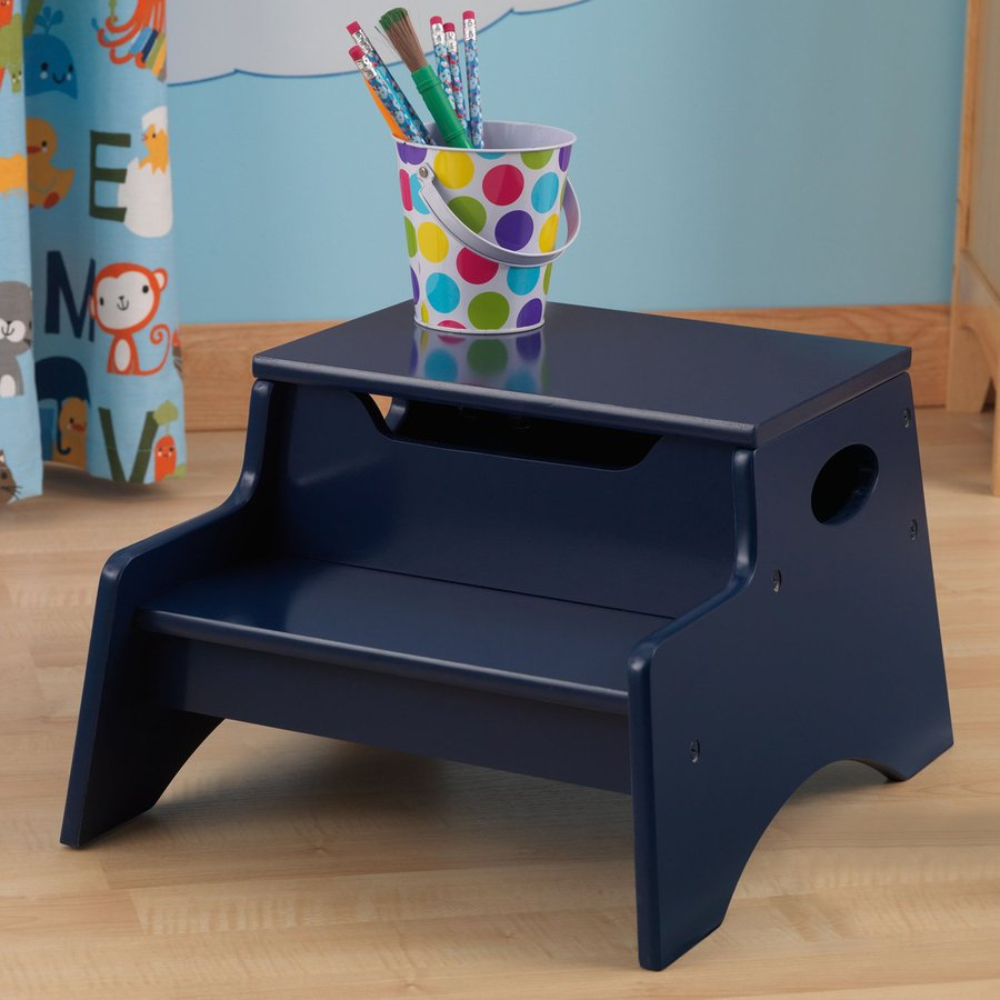 KidKraft Blueberry 2-Step Wood Kids Step Stool