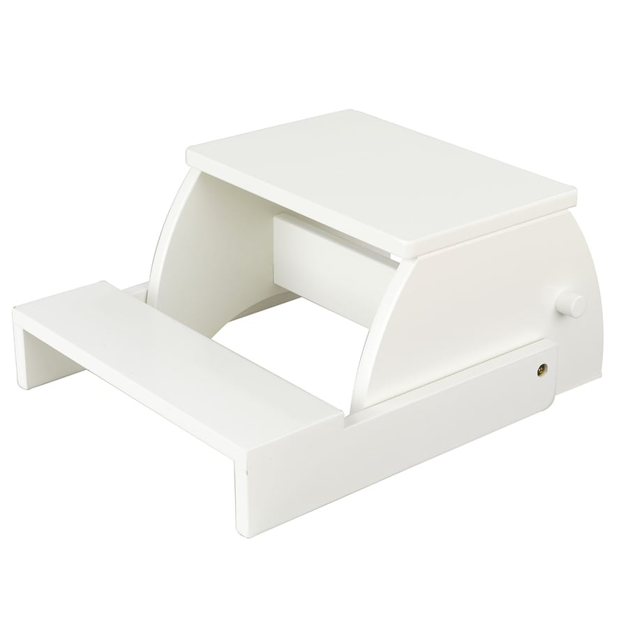 KidKraft 2-Step White Wood Step Stool