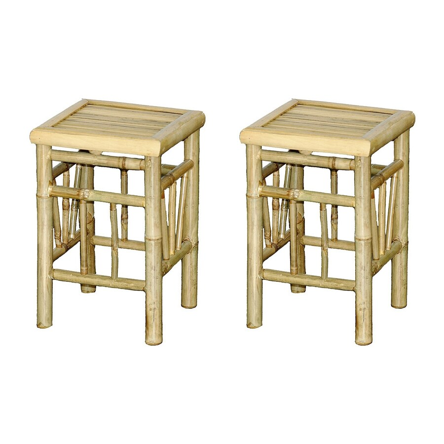 Bamboo 54 Set of 2 18-in Small Stool