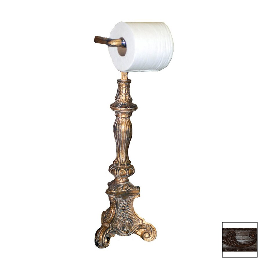 Hickory Manor House Walnut Freestanding Countertop Toilet Paper Holder