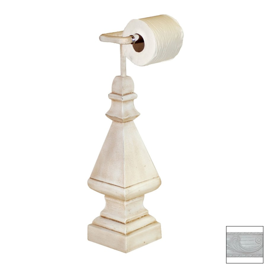Hickory Manor House Bright White Freestanding Countertop Toilet Paper Holder