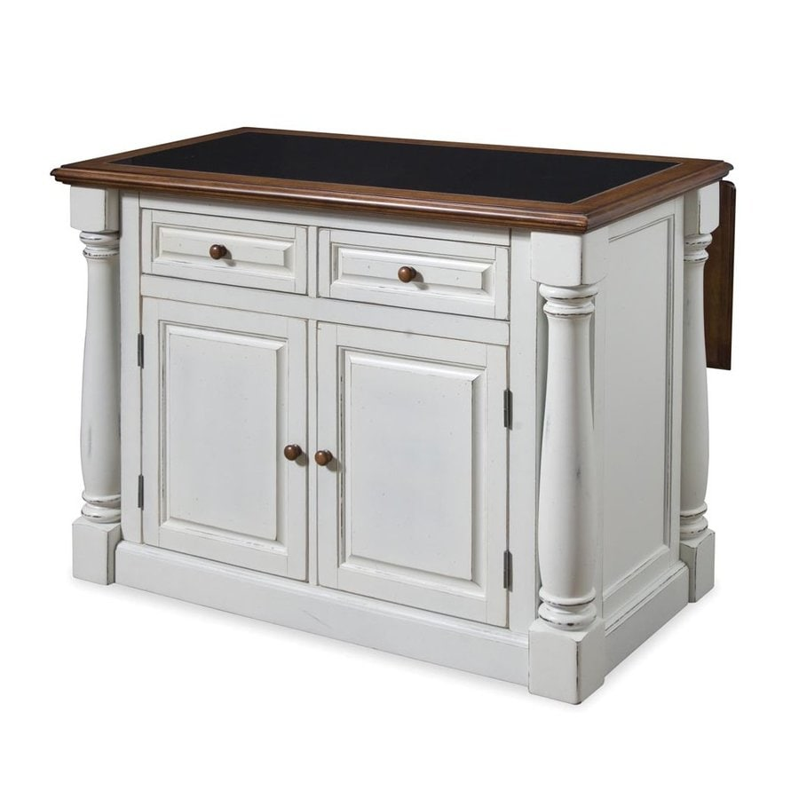 Shop home styles 48 in l x 25 in w x 36 in h distressed for Antique kitchen island