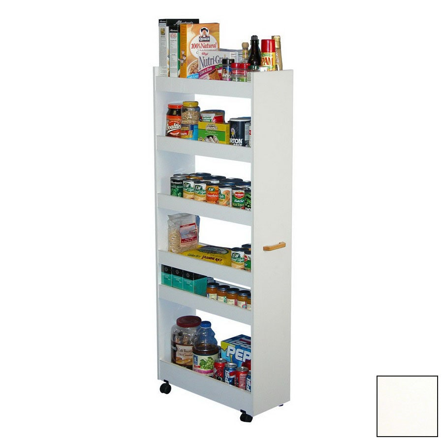 Shop venture horizon man pantry white rectangular bakers for Food pantry cabinet lowes
