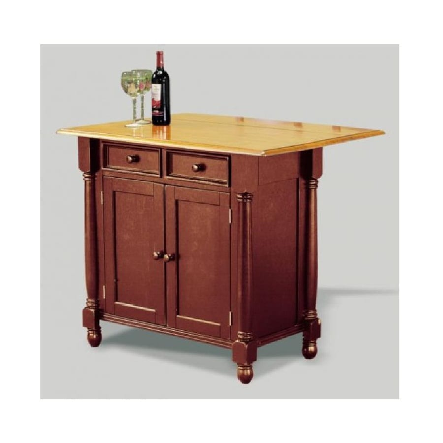 Shop Sunset Trading 42 In L X 22 In W X 36 In H Nutmeg And Honey Light Oak Kitchen Island At