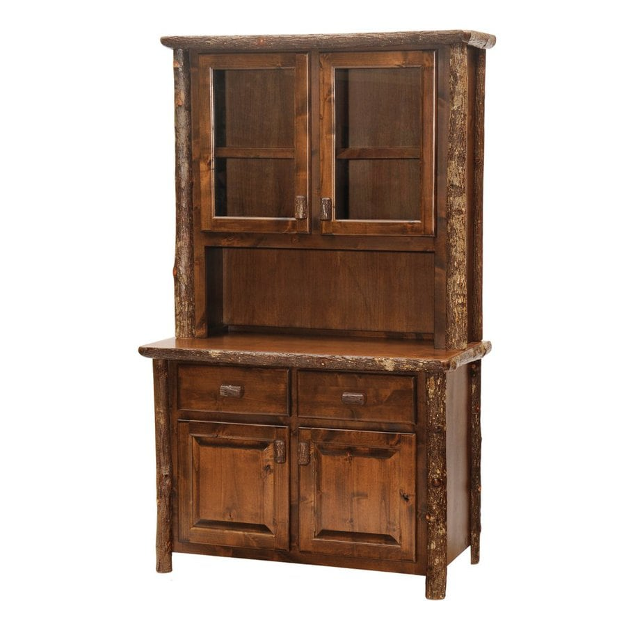 Fireside Lodge Furniture Hickory Espresso Rectangular Buffet with Hutch