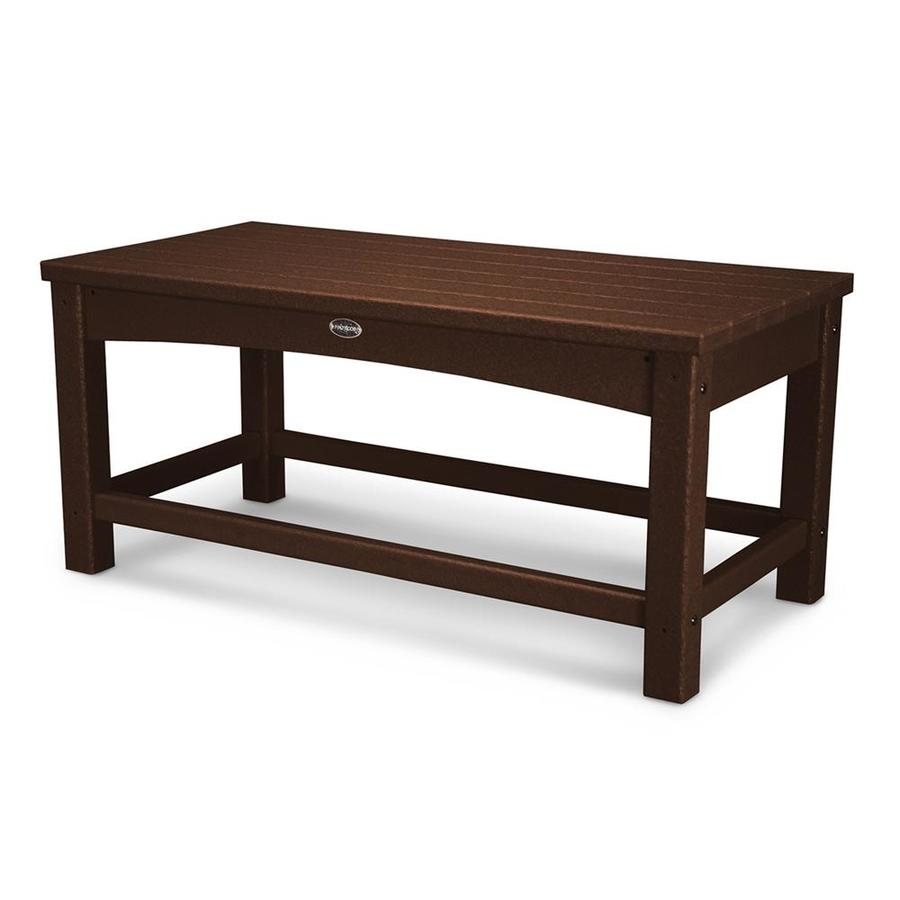 POLYWOOD Club 17.75-in W x 35.5-in L Rectangle Plastic Coffee Table