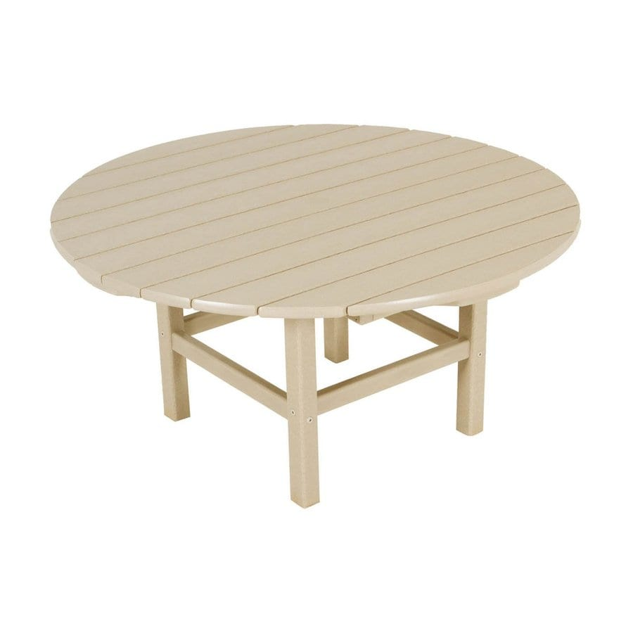POLYWOOD 38-in W x 38-in L Round Plastic Coffee Table