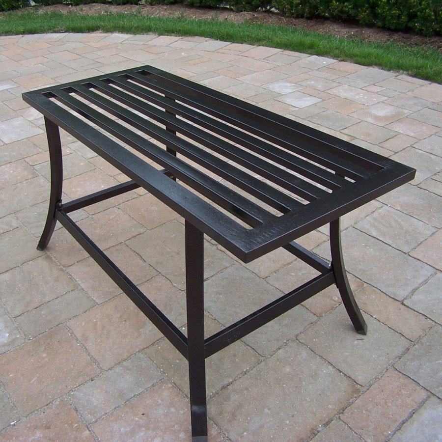 Oakland Living Rochester 16-in W x 36-in L Rectangle Iron Coffee Table